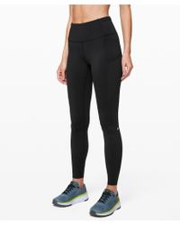 """lululemon athletica Fast And Free Tight 28"""" *non-reflective - Black"""