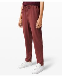 lululemon athletica Keep Moving Pant 7/8 High-rise - Red