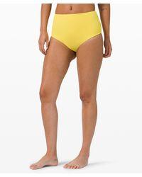 lululemon athletica Deep Sea High Waisted Skimpy Bottom *online Only - Orange