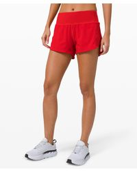 "lululemon athletica Speed Up Short Long 4"" Updated Fit - Red"