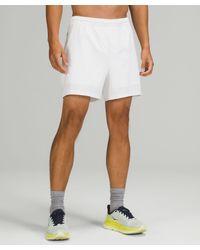 """lululemon athletica Pace Breaker Short 5"""" Lined - White"""