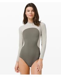 lululemon athletica Wade The Waters Ls One-piece - Grey