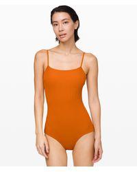 lululemon athletica Pool Play Full Bum One-piece - Orange