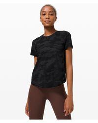 lululemon athletica Rise And Run Short Sleeve - Black