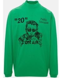 Off-White c/o Virgil Abloh Public Television L/s Tee - Green
