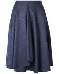 Eleventy - Blue Ruched Full Skirt - Lyst
