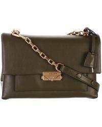 6194b6cf8cbd Lyst - Michael Kors Delfina Olive Leather Saddle Bag in Green