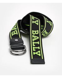 Bally Cintura Copper Logo Giall.nera - Green