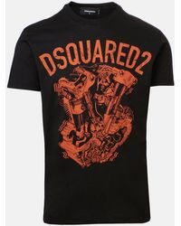 DSquared² T-shirt con stampa - Nero