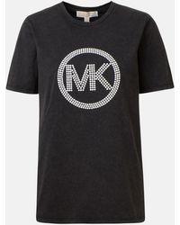MICHAEL Michael Kors T-shirt Logo Maxi Logo Nera - Black