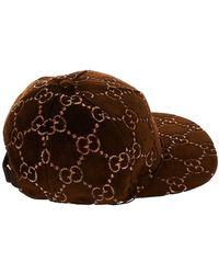 e53a3e7784aba Lyst - Gucci Gg Fedora Hat in Brown