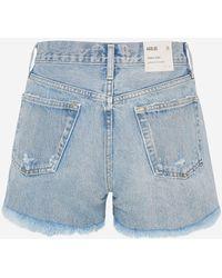 Agolde Light Blue Parker Shorts