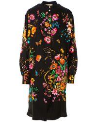Gucci Black Floral Dress