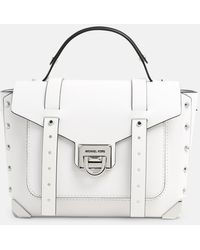 MICHAEL Michael Kors White Manhattan Bag