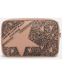 Golden Goose Deluxe Brand Powder Pink Star Bag
