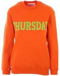 Alberta Ferretti Orange Rainbow Week Sweatshirt