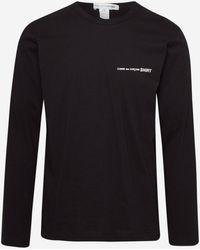 Comme des Garçons T-shirt M/l Nera - Black