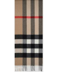 Burberry Sciarpa Mu Half Mega Con Motivo Tartan Archive Beige - Multicolor