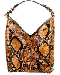 Anya Hindmarch Ochre Glossy Python Bag - Multicolor
