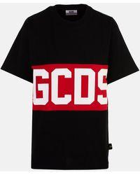 Gcds T-shirt in cotone con logo - Nero