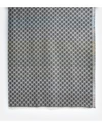 Gucci Gray And Multicolor Summer Shiny Scarf