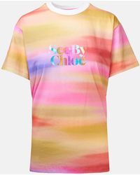 See By Chloé Rainbow Logo T-shirt - Pink