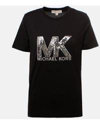 MICHAEL Michael Kors Sequin Logo T Shirt - Black