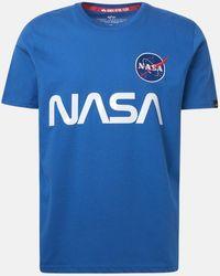 Alpha Industries - T-SHIRT NASA REFLECTIVE BLUETT - Lyst