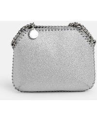 Stella McCartney Borsa Glitter Argento - Gray