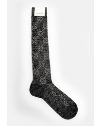 Gucci Black And Gray GG Socks