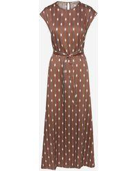 Peserico Brown Dress - Multicolor