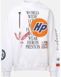 Heron Preston FELPA GIROCOLLO COLLAGE BIANCA - Bianco