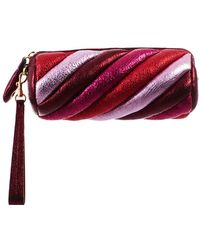 Anya Hindmarch - Gold And Red Marshmallow Clutch - Lyst