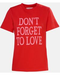 Alberta Ferretti Dont Forget To Love T Shirt - Red