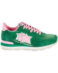 Atlantic Stars Green And Pink Vega Sneakers