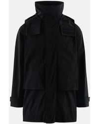 DSquared² Black Moto Puffer Coat