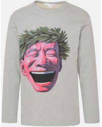 Comme des Garçons Gray M/l Print T-shirt