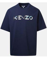 KENZO T-SHIRT MAXI LOGO BLU