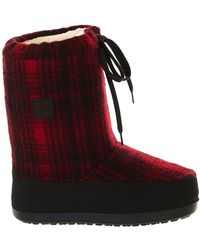 Woolrich - Red And Black Moon Boot - Lyst