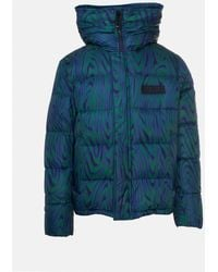 KENZO Multicolor Hooded Down Jacket