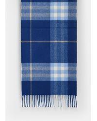 Burberry Blue Check Scarf