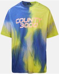 Marcelo Burlon T-shirt con fantasia tie dye - Blu