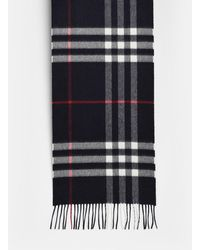 Burberry SCIARPA MU GIANT CHECK BLU