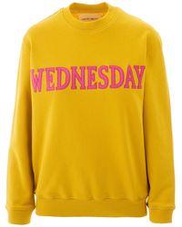 Alberta Ferretti Yellow Rainbow Week Sweatshirt