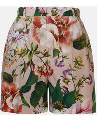 Dolce & Gabbana SHORT FIORATO ROSA - Multicolore