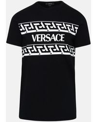 Versace T-shirt In Cotone Nera - Black