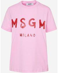 MSGM T-SHIRT ROSA