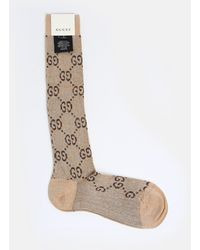 Gucci - Brown And Beige Socks - Lyst