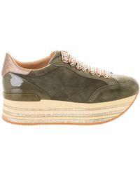 Hogan - Green Maxi Sneakers - Lyst