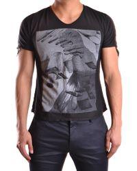 Tom Rebl - Black Cotton T-shirt - Lyst